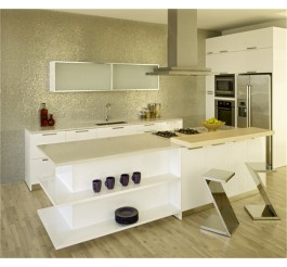 white high gloss PETG flims mdf kitchen cabinet