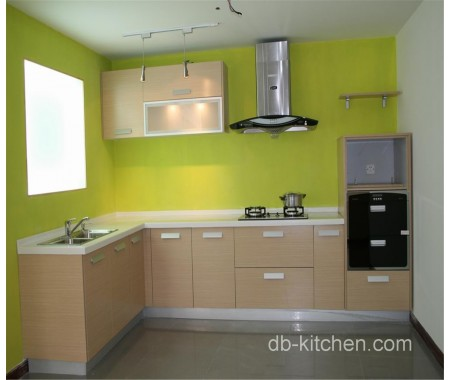 simple design melamine face kitchen cabinet color combination