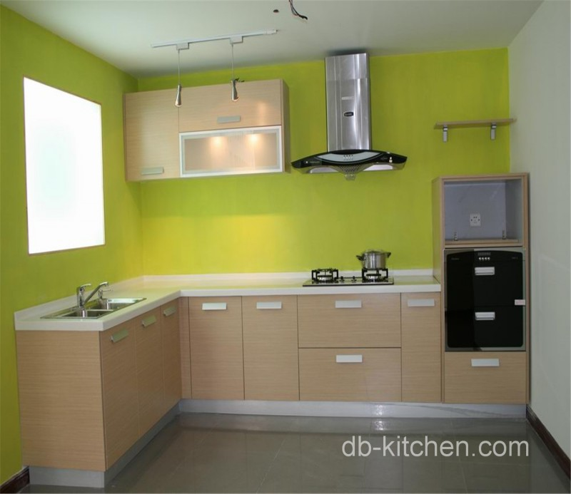Simple Design Melamine Custom Kitchen Cabinet Color