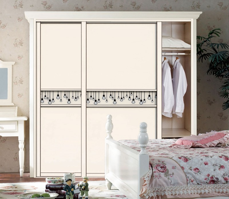 Mdf carcass bedroom wardrobe with uv high gloss sliding for Kitchen wardrobe design