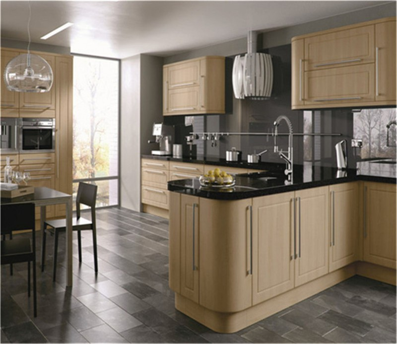 high gloss white modular kitchen cabinet design