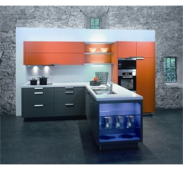 modern mdf uv high gloss kitchen cabinet design