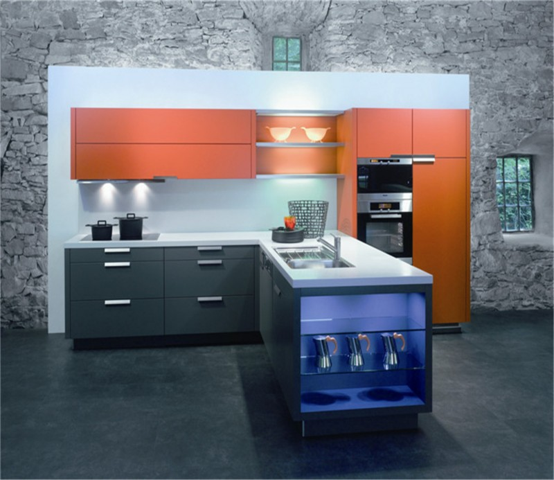 Kitchen Design Uv: Modern Mdf Uv High Gloss Kitchen Cabinet Design
