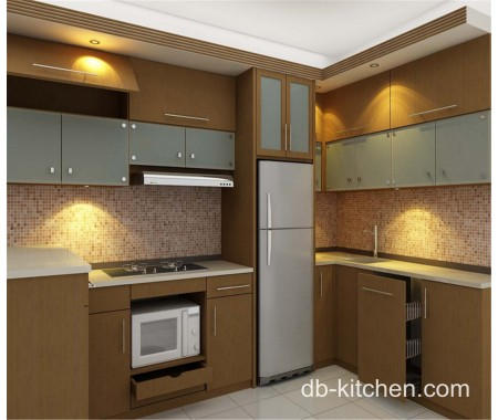 old style melamine faced kitchen cabinet simple design