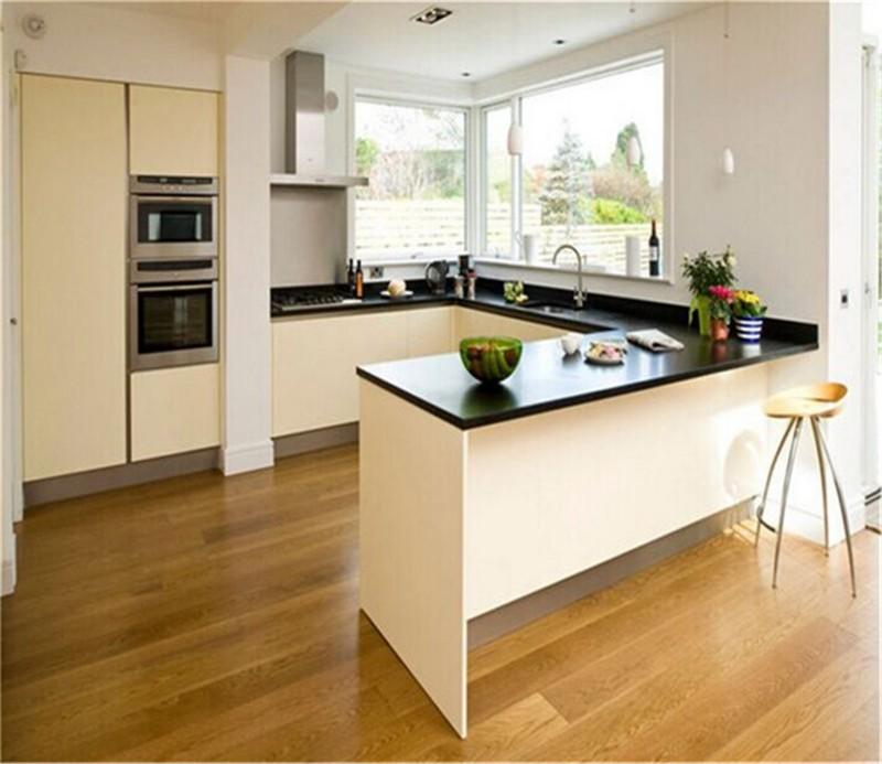 high gloss kitchen acbinet design with mdf carcass