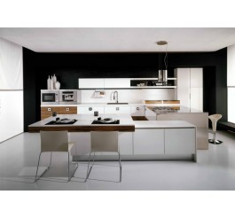 white high gloss kitchen cabinet