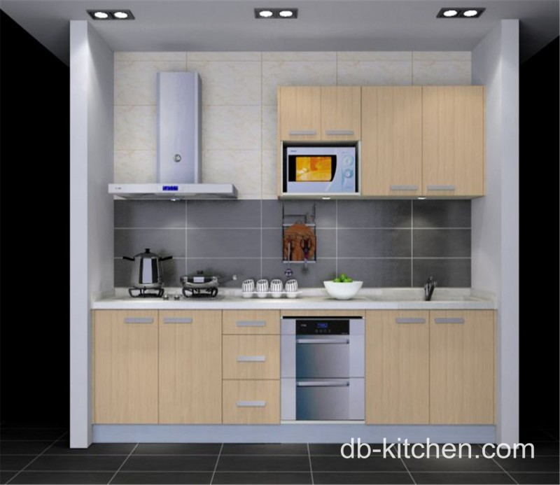 Beige practical style melamine beige custom small kitchen for Beige kitchen designs