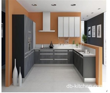 color combination of grey and silver melamine kitchen cabinet