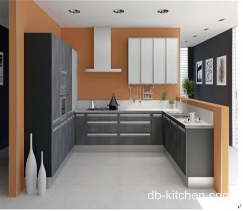 Kitchens Painted Gray With Red And Black