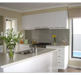 Customize white lacquer kitchen furniture cabinet design