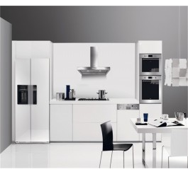 uv high gloss mdf white kitchen cabinet