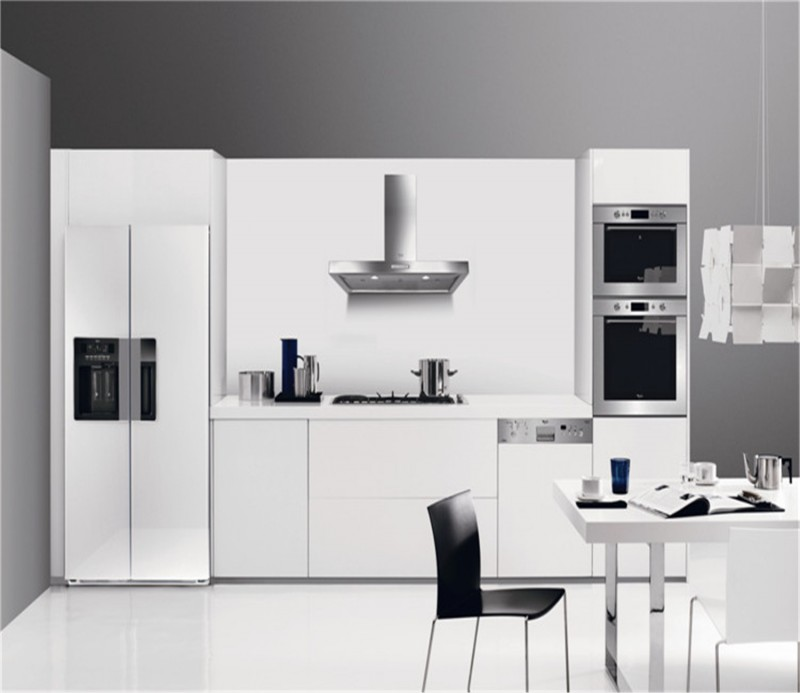 White Kitchen Cabinets High Gloss: Uv High Gloss Mdf White Kitchen Cabinet
