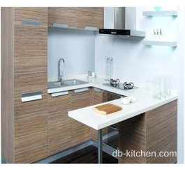 small kitchen wood veneer melamine faced custom made