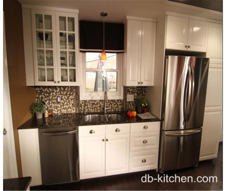PVC white elegant high class kitchen cabinet