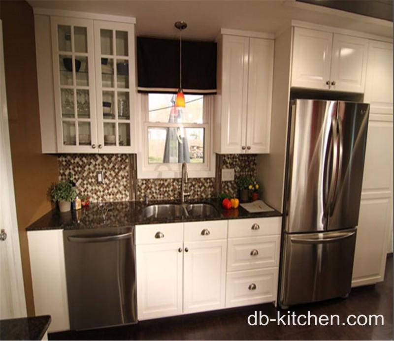 High Kitchen Cabinets: High Class Elegant White PVC Kitchen Cabinet Design For