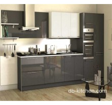 high gloss grey acrylic modern custom kitchen cabinet