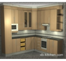 custom made classic design melamine kitchen cabinet