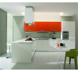 color combination high gloss kitchen cabinet
