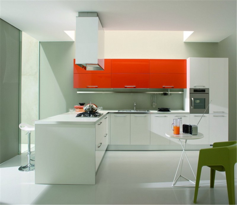 & color combination high gloss kitchen cabinet