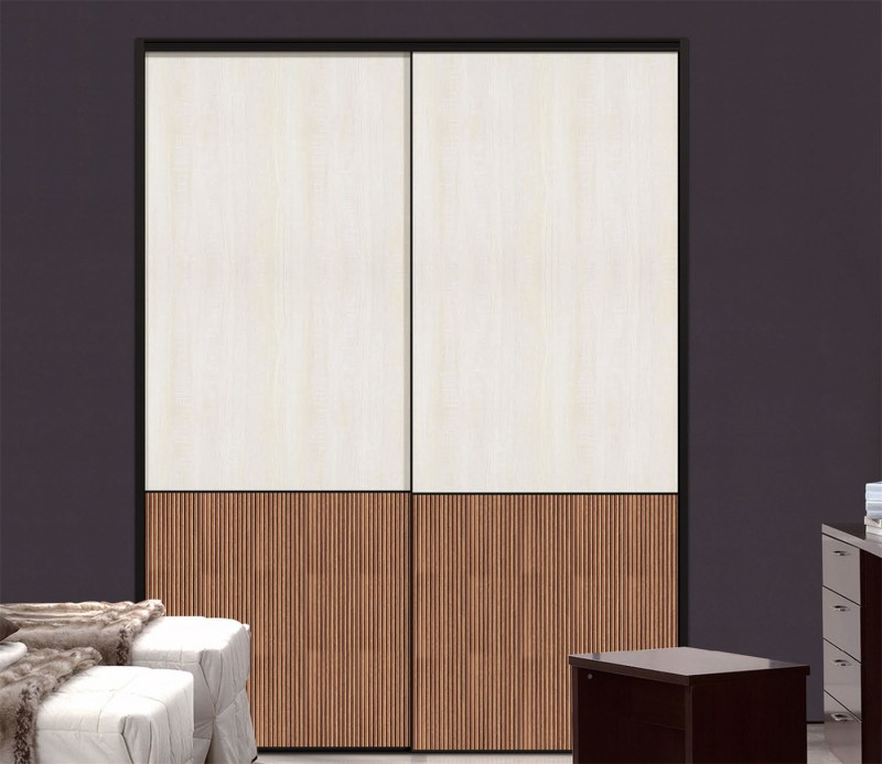Color combination wardrobe with sliding door for Kitchen wardrobe colours