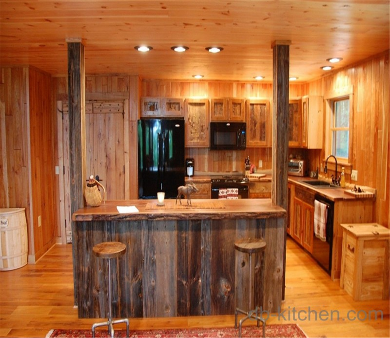 High Class Solid Wood Warm Kitchen Cabinet
