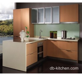 Artistic melamine modular new design kitchen cabinet