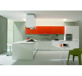 whiet color uv high gloss kitchen cabinet