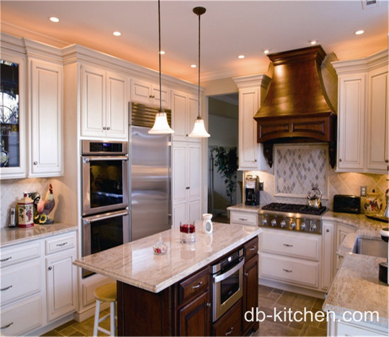 Antique Looking White Kitchen Cabinets: Antique White PVC Kitchen Cabinet