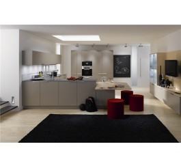 high gloss white color modular kitchen sets
