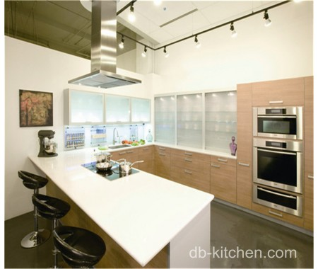 Modern durable solid wood kitchen cabinet design for Solid wood modern kitchen cabinets