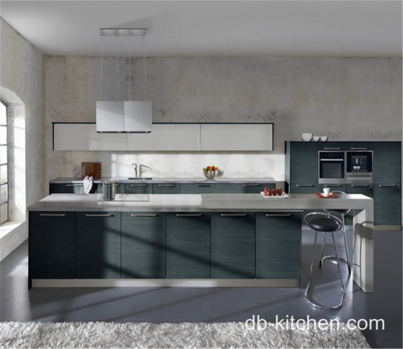 Grey Melamine White Gloss Acrylic Laminate Kitchen Cabinet Design - Grey and white gloss kitchen
