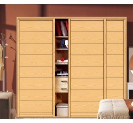 melamine finish sliding door wardrobe design