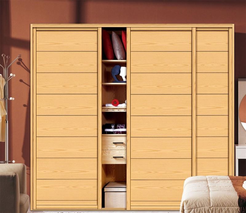 Fancy Bedroom Wardrobe Plywood Wall Almirah Designs: Melamine Finish Sliding Door Wardrobe Design