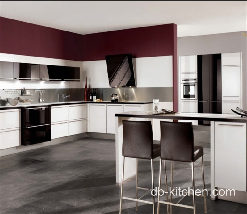 Black And Red Cabinets In Kitchen