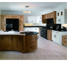 old style solid wood kitchen cabinet simple design