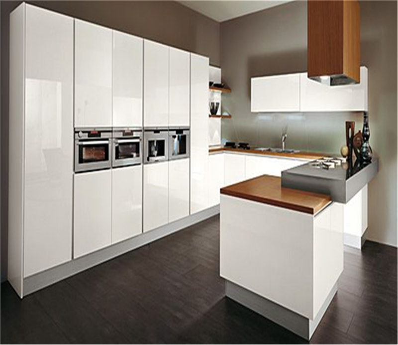 Modern high gloss kitchen cabinet furniture for Shiny white kitchen cabinets