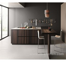 modern simple UV wood grain kitchen cabinet