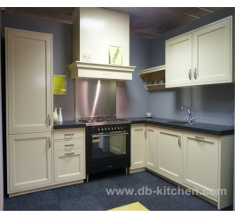 biege simple design PVC kitchen cabinet