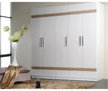 uv high gloss hinge door wardrobe
