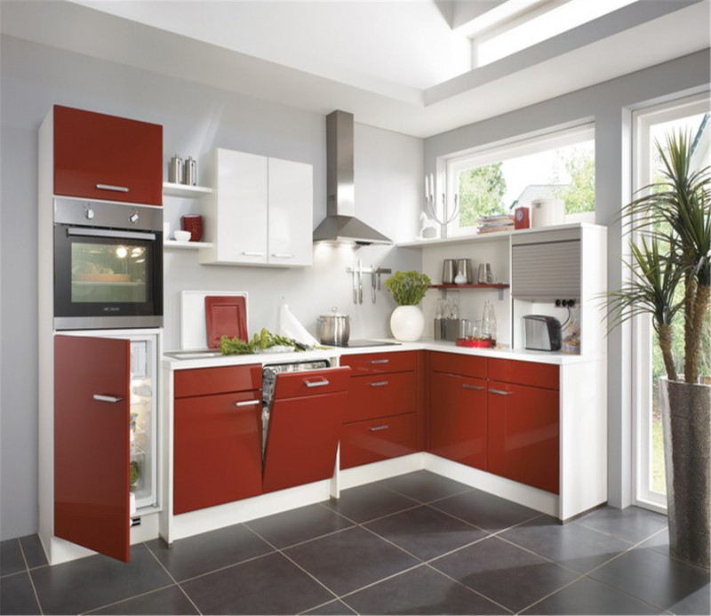 White Kitchen Cabinets High Gloss: Lacquer High Gloss Kitchen Cabinet