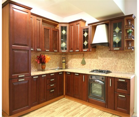 solid wood kitchen cabinet
