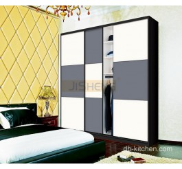 3 door high gloss slidng door wardrobe