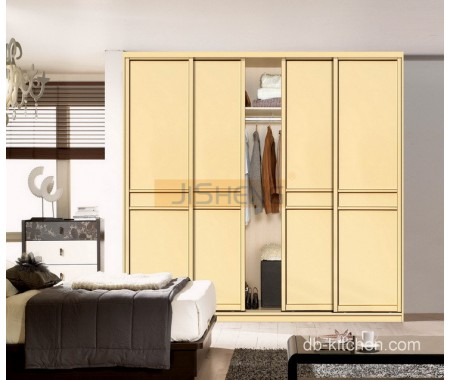 uv high gloss mdf sliding door wardrobe