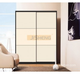 UV high gloss mdf sliding door wardrobe design
