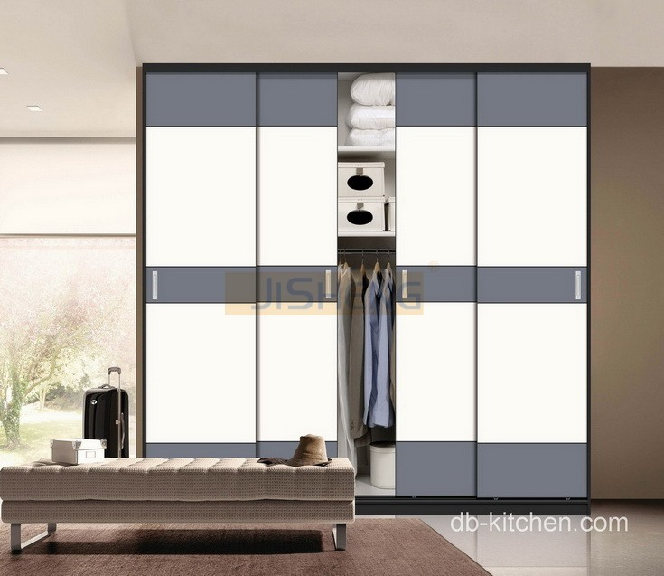 Uv High Gloss Color Combination Sliding Door Wardrobe