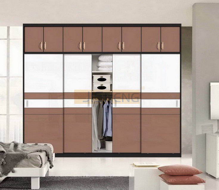 Uv high gloss sliding door wardrobe for Kitchen wardrobe design