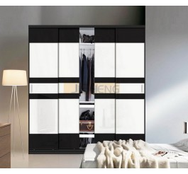 whiet color laminated md fwardrobe design