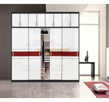 laminated mdf high gloss wardrobe design