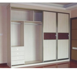 high gloss white sliding door wardrobe