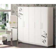 high gloss wardrobe sliding door design